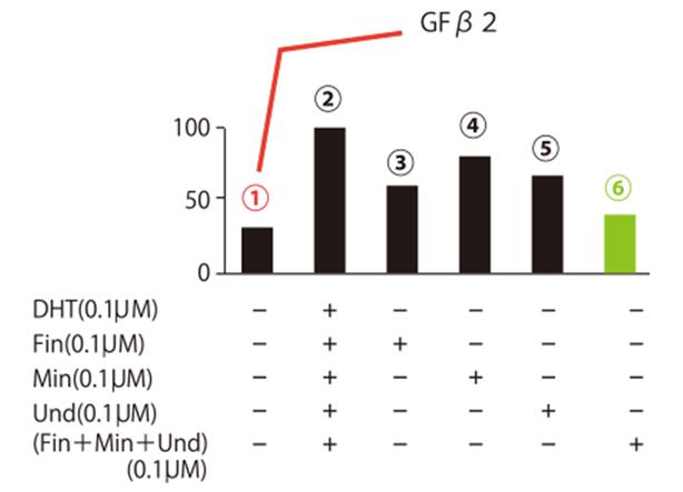 脱毛因子TGFβ2を抑える実験